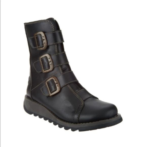 33695de1 Fly London Shoes | New Scop Buckle Ankle Boots | Poshmark